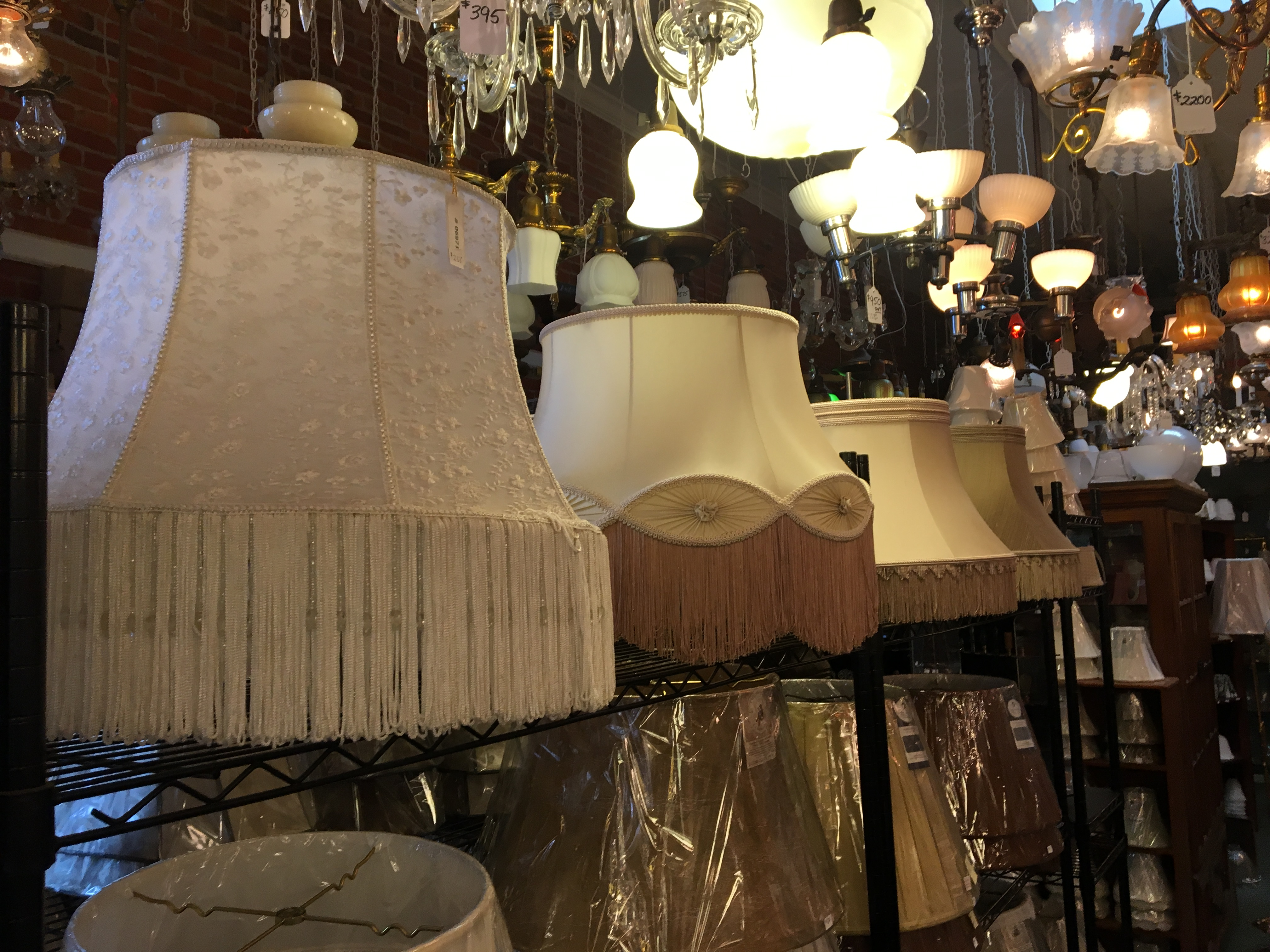open ceiling lighting lampshades old town antique lighting